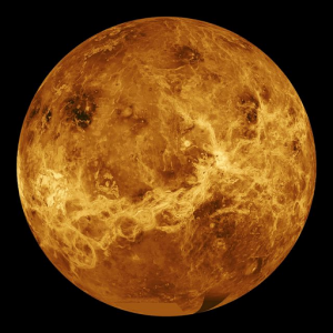Venus burns a fiery orange color as lava spills everywhere and winds blow at hundreds of miles an hour at the cloud tops, but barely moves on the surface makes a perfect scene for oblivion.