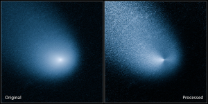 "Comet  Spring-Siding scheduled for a very near  approach to Mars in October of 2014. One of a number of recent visits to our ""neighborhood"" by distant ice comets."
